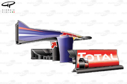 Red Bull RB8 nose detail (note 'Pelican' underbelly