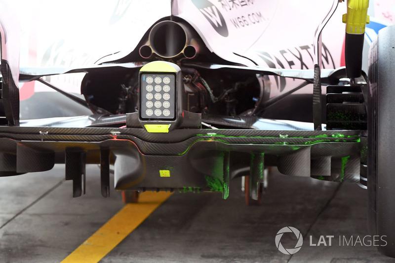 Sahara Force India VJM10 rear diffuser, aero paint