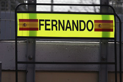 Pit board for Fernando Alonso, McLaren