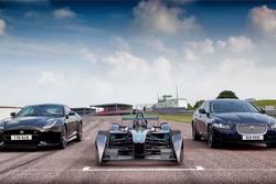 Jaguar Formula E, XE e F-Type SVR at Mallory Park