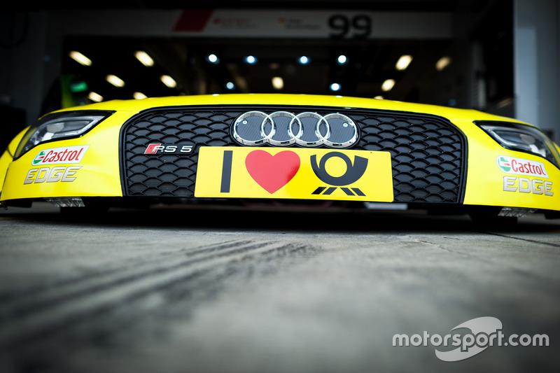 Il cofano di Mike Rockenfeller, Audi Sport Team Phoenix, Audi RS 5 DTM