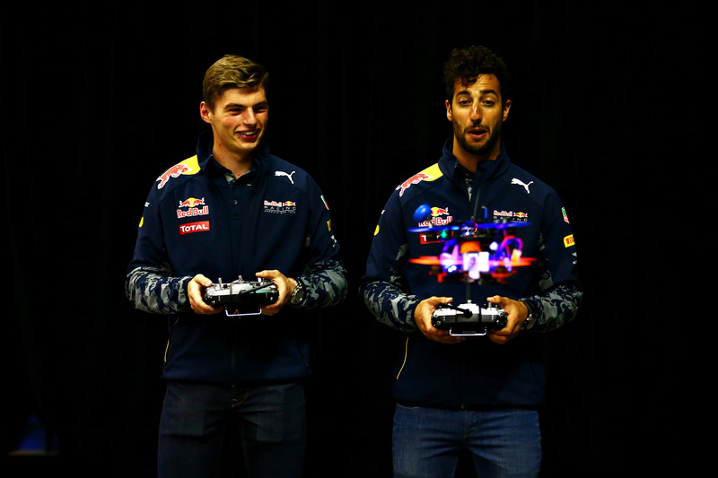 Daniel Ricciardo, Red Bull Racing and Max Verstappen, Red Bull Racing race drones