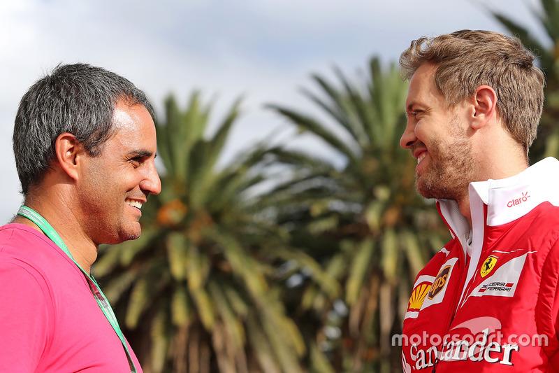 Juan Pablo Montoya und Sebastian Vettel, Scuderia Ferrari