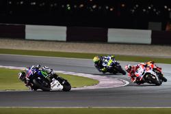 Jorge Lorenzo, Movistar Yamaha MotoGP, Yamaha; Andrea Dovizioso, Ducati Team, Ducati; Valentino Ross