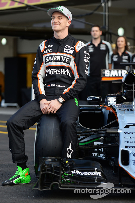 Nico Hulkenberg, Sahara Force India F1 at a team photograph
