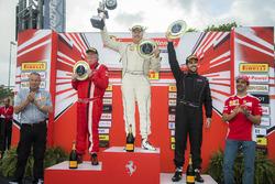 Trofeo Pirelli Am podium: winner Steve Johnson, second place James Weiland, third place Arthur Romanelli