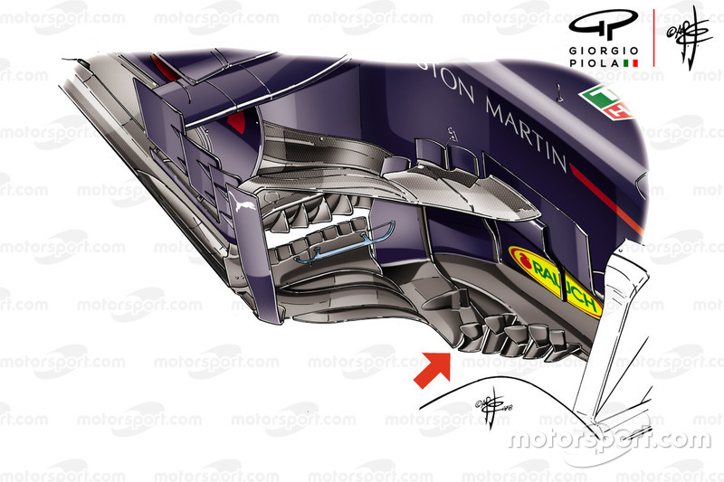 Red Bull RB14: i bargeboard del GP di Francia