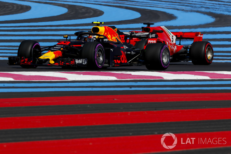 Макс Ферстаппен, Red Bull Racing RB14, Себастьян Феттель, Ferrari SF71H