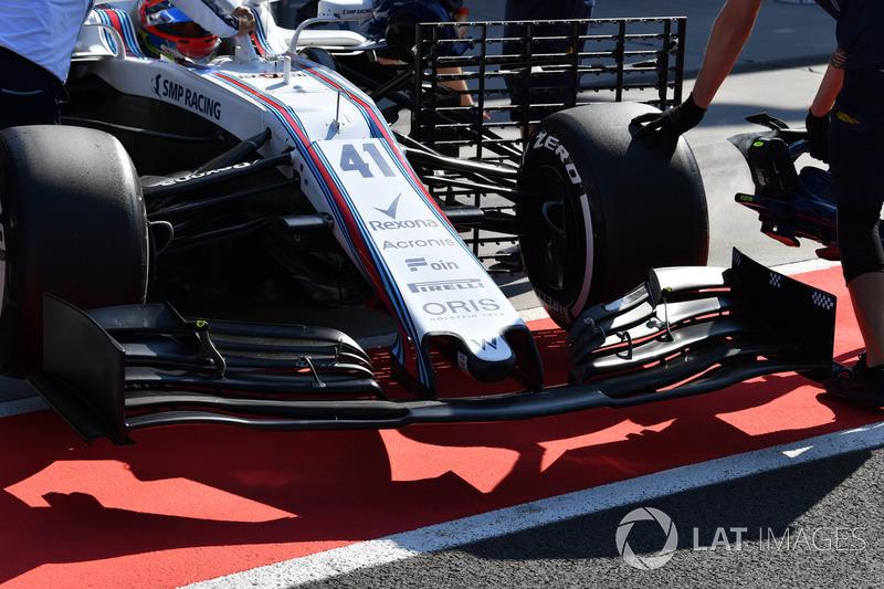 Новое переднее крыло Williams FW41