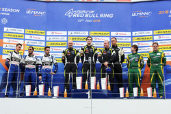 Podium LMP3: winners #15 RLR Msport Ligier JS P3 - Nissan: John Farano, Job Van Uitert, Robert Garofall, second place #11 Eurointernational Ligier JS P3 - Nissan: Giorgio Mondini, Kay Van Berlo, third place #13 Inter Europol Competition Ligier JS P3 - Nissan: Jakub Smiechowski, Martin Hippe