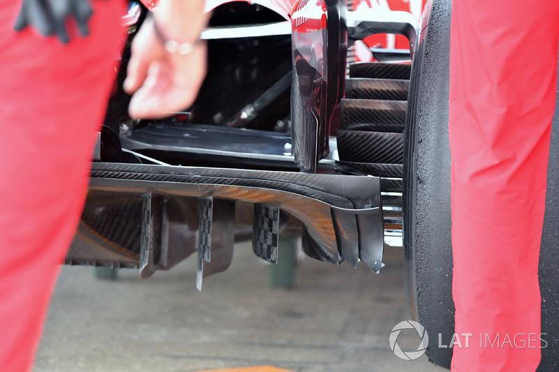 Ferrari SF71H, dettaglio del diffusore