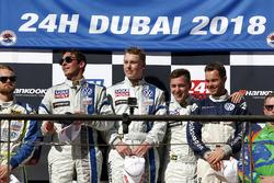Podio TCR: i vincitori #130 Liqui Moly Team Engstler Volkswagen Golf GTi TCR: Luca Engstler, Florian Thoma, Benjamin Leuchter, Jean Karl Vernay