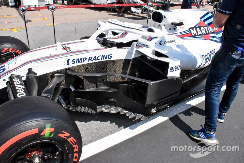 Detalle de los bargeboard del Williams FW41
