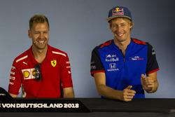 Sebastian Vettel, Ferrari and Pierre Gasly, Scuderia Toro Rosso in the Press Conference