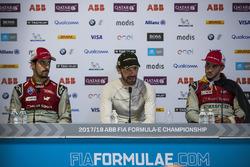 Lucas di Grassi, Audi Sport ABT Schaeffler, Jean-Eric Vergne, Techeetah., Daniel Abt, Audi Sport ABT Schaeffler, in the post race press conference