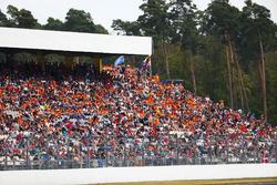 Dutch fans in a grandstand