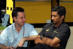 Narain Karthikeyan, Jordan parla con Piers Hunnisett