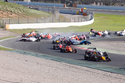 Crash at the start of the race