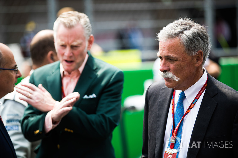 Sean Bratches, Managing Director of Commercial Operations, Formula One Group, Chase Carey, voorzitter, Formula One