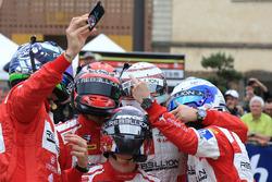 #12 Rebellion Racing Rebellion R-One AER: Nicolas Prost, Nick Heidfeld, Nelson Piquet Jr., #13 Rebellion Racing Rebellion R-One AER: Matheo Tuscher, Alexandre Imperatori, Dominik Kraihamer