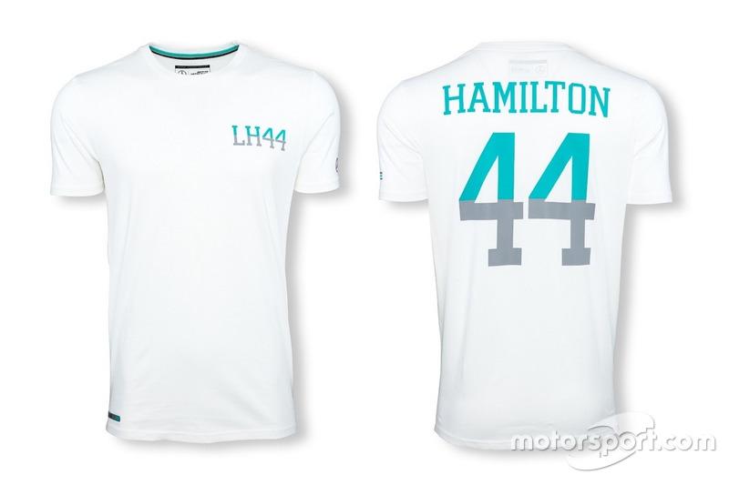 "T-shirt Mercedes AMG Petronas ""44"" Lewis Hamilton blanc"