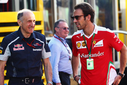 (L to R): Franz Tost, Scuderia Toro Rosso Team Principal with Jean-Eric Vergne, Ferrari Test and Development Driver
