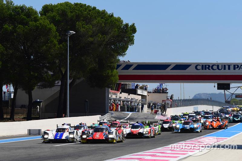 Start: #46 Thiriet by TDS Racing Oreca 05 - Nissan: Pierre Thiriet, Mathias Beche, Mike Conway lider