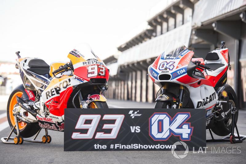 The bikes of Marc Marquez, Repsol Honda Team, Andrea Dovizioso, Ducati Team, bikes
