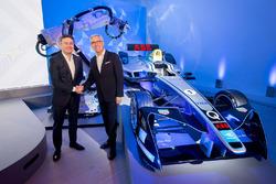 Alejandro Agag, Fondatore e CEO della Formula E, e Ulrich Spiesshofer, CEO della ABB