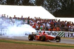 Eddie Irvine, Ferrari F310 with broken engine