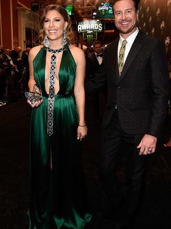 Kurt Busch y su esposa Ashley Busch