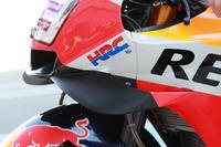 Detalle de la moto de Marc Marquez, Repsol Honda Team