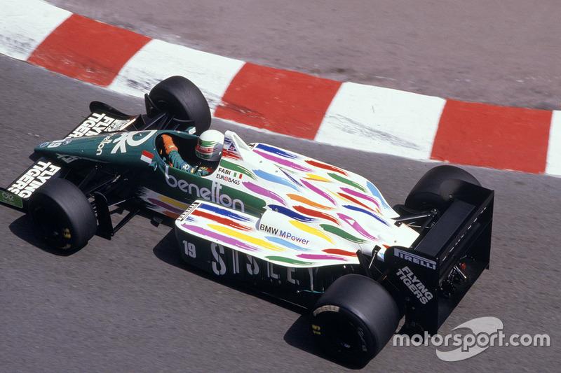 ... Benetton en la temporada de 1986, ...