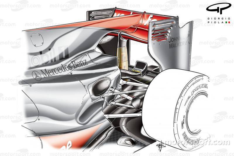 F-Duct et aileron arrière de la McLaren MP4-25 de 2010