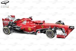 Ferrari F138, lauch car, 3/4 view