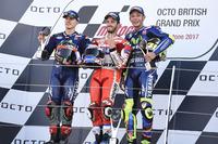 Podium: 1. Andrea Dovizioso, Ducati Team; 2. Maverick Viñales, Yamaha Factory Racing; 3. Valentino Rossi, Yamaha Factory Racing