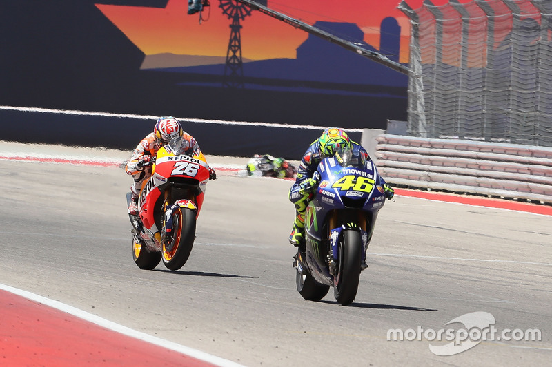 Valentino Rossi et Dani Pedrosa