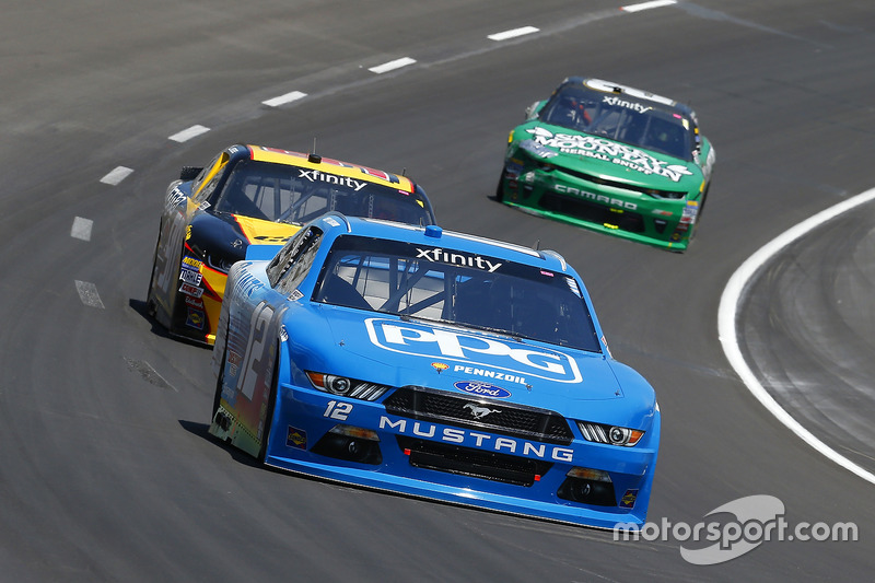 Joey Logano, Team Penske, Ford; Alex Labbé, King Autosport, Chevrolet