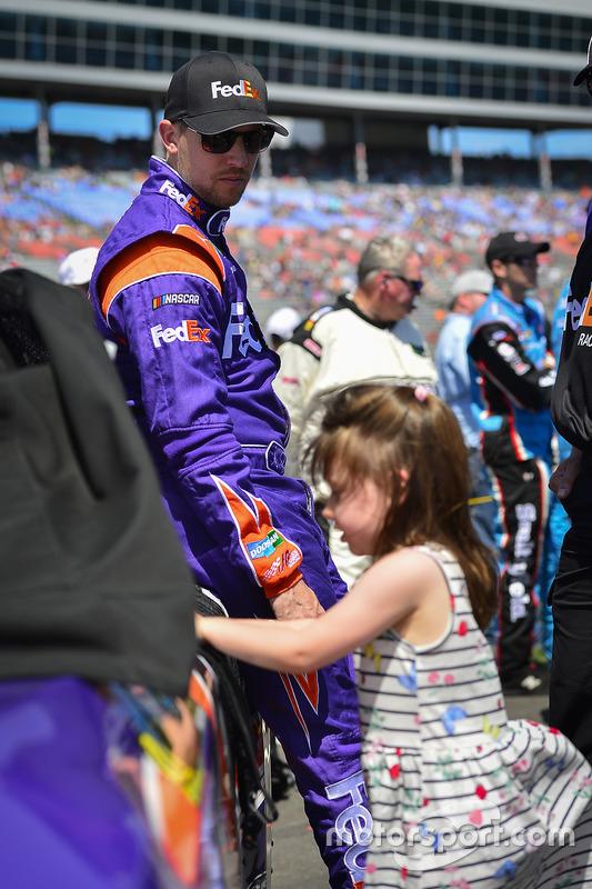 Denny Hamlin, Joe Gibbs Racing, Toyota, mit Tochter Taylor
