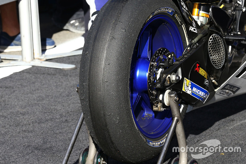 Jorge Lorenzo, Yamaha Factory Racing Michelin tyre post race