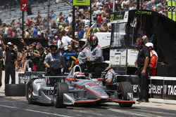 Will Power, Team Penske Chevrolet, and crew celebrate winning the Pit Stop Competition