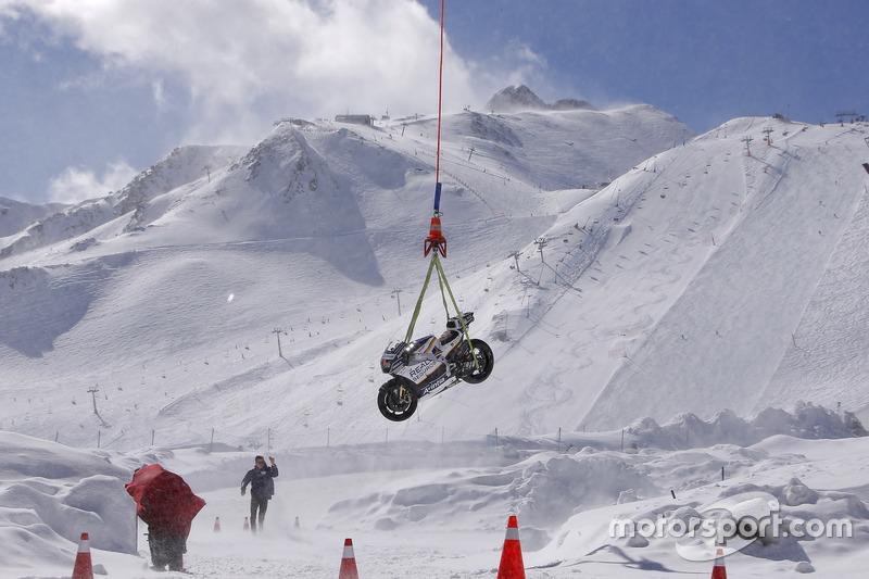 Atterrissage à 2'500m d'altitude