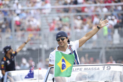 Felipe Massa, Williams, in the drivers parade