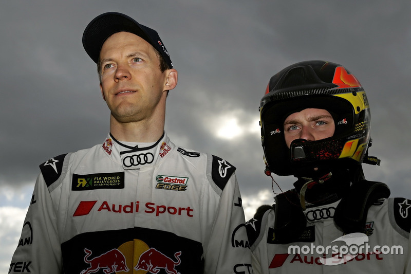 Mattias Ekström, EKS, Audi S1 EKS RX Quattro; Reinis Nitiss, EKS, Audi S1 EKS RX Quattro