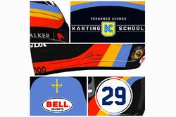Le casque de Fernando Alonso pour l'Indy 500