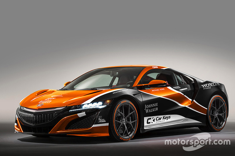 Honda NSX dengan corak McLaren
