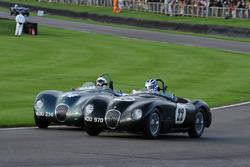 Freddie March Memorial Trophy John Young Frederic Wakeman C-Type Jaguar
