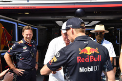 Christian Horner, Red Bull Racing Team Principal, Max Verstappen, Red Bull Racing and Jean-Claude Biver CEO TAG Heuer