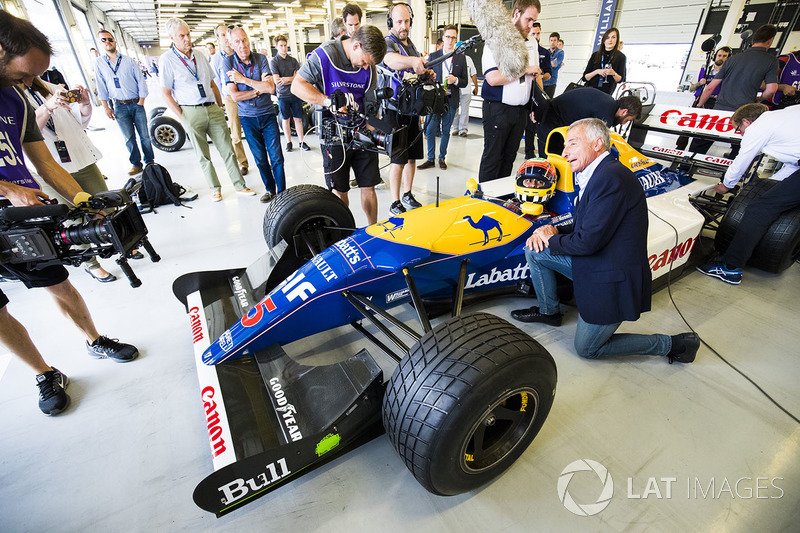 Карун Чандок, Williams FW14B Renault, и Риккардо Патрезе