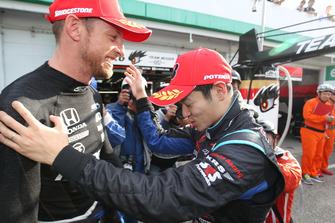 Polesitters Naoki Yamamoto, Jenson Button, Team Kunimitsu